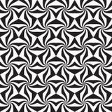 Абстрактная черно-белая безшовная картина Стоковая Фотография