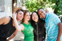 不同种族的小组成功的成人 免版税库存图片