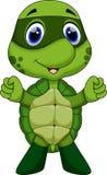 逗人喜爱的超级乌龟动画片 免版税图库摄影