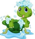 逗人喜爱的乌龟动画片 图库摄影