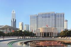 Пейзаж людей Шанхая квадратный Стоковое Изображение RF