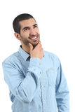 Идеи арабского человека думая и смотреть сторону Стоковые Фотографии RF