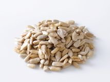 Сырцовые семена подсолнуха Стоковая Фотография