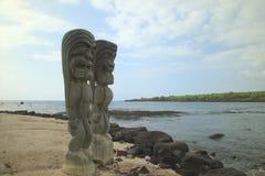 神夏威夷人雕象 库存照片