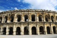 竞技场法国罗马的尼姆 免版税图库摄影