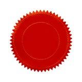 圆的红色封印 免版税库存图片