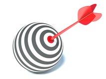 以球形和箭头的形式目标 免版税库存照片
