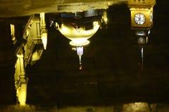 Бунд Шанхая на ноче, отражении Стоковое Изображение
