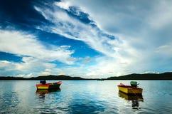 钓鱼二的小船 免版税库存图片