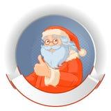 圣诞老人商标 免版税库存图片