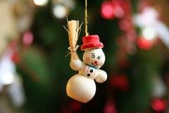圣诞节装饰品雪人 免版税库存图片
