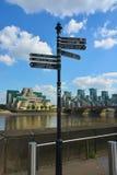 Σημάδια κατεύθυνσης του Λονδίνου Στοκ Εικόνες