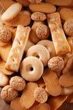 被分类的堆脆饼 免版税库存图片