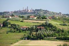 Городок Тосканы Стоковое Изображение RF