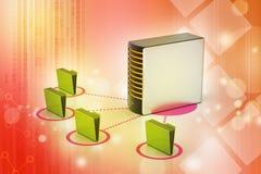 有文件夹的服务器 免版税库存图片