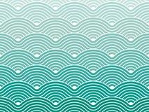 五颜六色的几何无缝的反复传染媒介弯曲的波动图式纹理背景向量图形例证 库存照片
