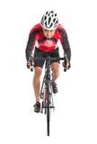 亚裔骑自行车的人 库存照片