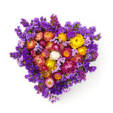 Διαμορφωμένο καρδιά στεφάνι λουλουδιών Στοκ εικόνες με δικαίωμα ελεύθερης χρήσης