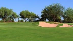 高尔夫球场视图 库存图片