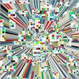Город мозаики красочный городской вектора небоскребов Стоковая Фотография