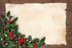 背景边界把空白圣诞节礼品金黄查出的丝带装箱 免版税库存照片