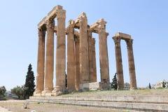 雅典,希腊,奥林山宙斯寺庙  免版税图库摄影
