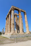 Висок Зевса олимпийца, Афин, Греции Стоковое Фото