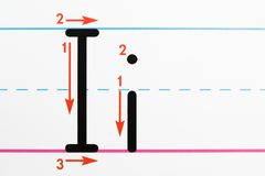 сочинительство практики письма Стоковое Изображение RF
