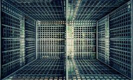 金属篱芭都市内部阶段 库存图片