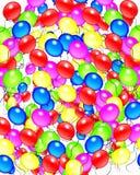 γενέθλια μπαλονιών ανασκόπησης Στοκ εικόνα με δικαίωμα ελεύθερης χρήσης