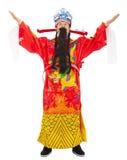 农历新年!财富份额财宝和繁荣的神 免版税库存图片