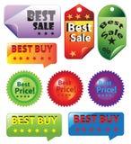 销售被设置的标记象 免版税库存照片