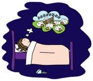 失眠 库存图片