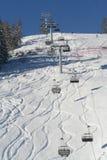 阿尔卑斯手段滑雪视图 库存照片