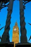 大本钟响铃尖沙咀钟楼,伦敦英国 库存照片