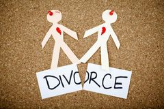 Έννοια διαζυγίου Στοκ Εικόνα
