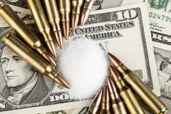 Деньги от продажи наркотиков Стоковая Фотография