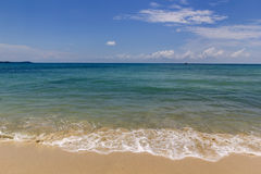 Μπλε θάλασσα στο μεσογειακό ωκεανό Στοκ Εικόνα