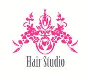 Значок логотипа парикмахерской Стоковая Фотография RF