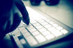 工作的黑客 库存图片