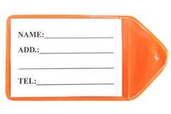 塑料标记 免版税库存图片