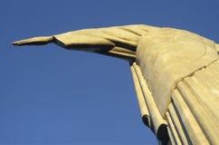 基督雕象的细节救世主,里约热内卢,胸罩 免版税库存图片