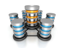 数据库网络概念 金属硬盘象网 库存照片
