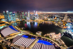 Πανόραμα Σινγκαπούρης Στοκ εικόνα με δικαίωμα ελεύθερης χρήσης