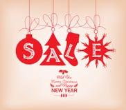 ευτυχές λευκό αγορών πώλησης κοριτσιών Χριστουγέννων ανασκόπησης Στοκ φωτογραφία με δικαίωμα ελεύθερης χρήσης