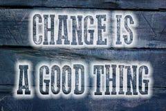 Измените хорошая концепция вещи Стоковые Фотографии RF