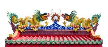 在中国寺庙的龙 库存照片