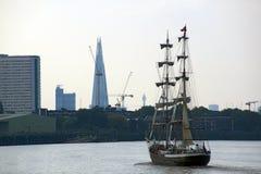 高风帆的船 免版税图库摄影