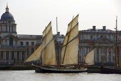 高风帆的船 免版税库存照片