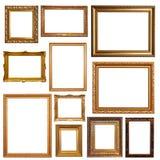 Картинные рамки старого золота Стоковое фото RF